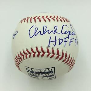 Orlando Cepeda Signed Heavily Inscribed Stat Baseball Hall Of Fame Logo JSA COA