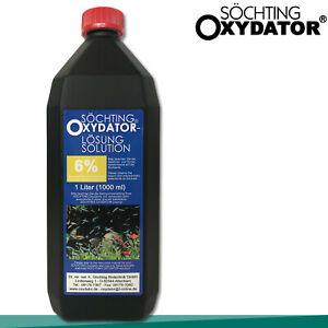 Söchting 1L Oxydator Lösung 6% Wasserstoffperoxid Teich Aquarium Algen Pflege