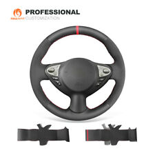 Black Leather Suede Steering Wheel Cover for Infiniti FX35 FX37 for Nissan Juke