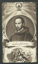 Estampa antigua del Hermano Juan de Jesus andachtsbild santino holy card santini