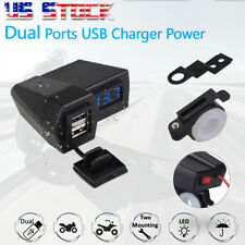 LED Voltmeter Dual USB Charger For Honda Gold Wing Valkyrie Rune GL 1500 1800 US