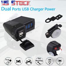 LED Voltmeter USB Charger For Harley Davidson Sportster Softail Dyna Touring US