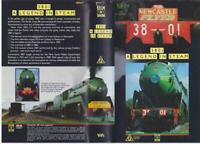 3801 NEWCASTLE FLYER 3801 A LEGEND IN STEAM   VIDEO PAL VHS RARE