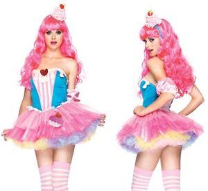 SALE LEG AVENUE Katy Perry Cupcake Pop Star Fancy Dress Costume Size M/L 10-12