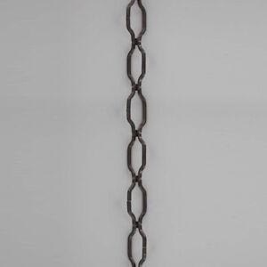 "BLACK ~ GOTHIC WROUGHT IRON ~ Hanging Lamp ~ Chandelier Chain ~ 36"" long ~ 10Ga."