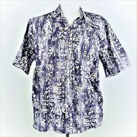 Cooke Street Tropical Hawaiian Aloha Shirt Medium Purple Abstract Sea Turtles
