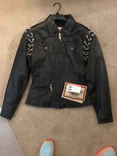 Harley-Davidson Chain Leather Jacket - Women's XS - Black - NWT