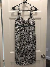 Skirtin Around New Canaan CT Black White Dress Size 4 Polka Dot