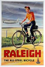 Raleigh All Steel Original Vintage Bicycle Poster