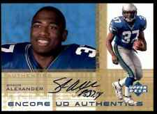 2000 UD Encore Authentics Shaun Alexander RC Auto Seahawks