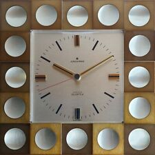 Traumhafte 60er Jahre Junghans Wanduhr 70s wall clock Astra quarz mid century