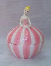 Ballerina Powder or  Jewelry Box Mint Vtg Extra Large Ceramic Pottery Lady Girl