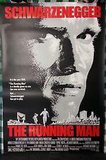The Running Man Original Movie Poster Arnold Schwarzenegger 27x41 Unfolded NEW