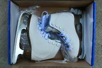 RIEDELL 113 Girls/kids Beginner Soft Figure Ice Skates White Size 12 medium jr