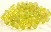 Antique Vintage Marbles Cats Eye Transparent yellow Swirls Speckled lot