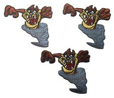 Looney Tunes Tazmanian Devil Tornado Embroidered Patch Set of 3