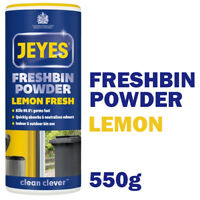 Jeyes Fresh bin Powder Lemon - Outdoor/ Indoor Bins Freshener 1 x 550g