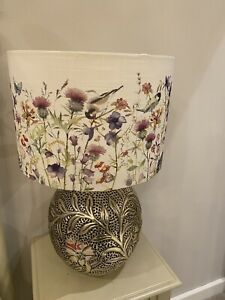 2 Laura Ashley Printed (PAIR )Country Flowers birdsPendant/table Lamp Shade 35cm