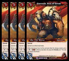 4x Garrosh, Son of Grom War the Ancients Epic 131 World Warcraft WoW TCG Card