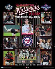 2019 Washington Nationals World Series Championship Picture Plaque