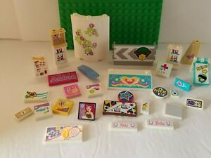 Lego Friends Signs Sports SET OF 30  Horse Wall Mini Doll Sticker Printed Tile