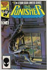 Punisher #4 of 5 Limited Series April 1986 NM- 9.2 Marvel Comics