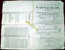 1897 Original WARING & GILLOW Furniture Manufacturers PROSPECTUS for SHARES
