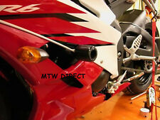 R&G RACING CRASH PROTECTORS  for YAMAHA YZF R6 2010 MODEL ONE PAIR IN BLACK