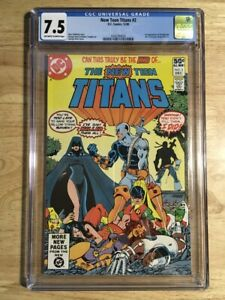 The New Teen Titans #2 CGC 7.5 (VF-) 1st App Deathstroke! DC 1980 - OW/W Pages