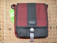 NEW HUGO BOSS MENS GREY RED SHOULDER MESSENGER HOLDALL SUIT JEANS CARRY CASE BAG