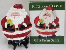 """Fitz and Floyd """"Gifts From Santa"""" Canape Plate Party Dish Christmas Hand-Painted"""