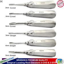 Dents extraction luxation silos set de 6 droite et courbe 3mm, 4mm, 5mm