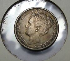 1906 AU NETHERLANDS SILVER 10 CENTS Free Shipping