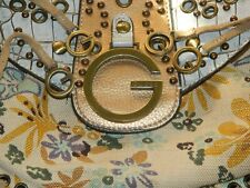 GUESS OASIS CROSSBODY MINI BAG IN METALLIC COLORING AND FLORAL CLOTH