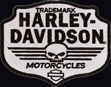 HARLEY DAVIDSON REFLECTIVE SKULL Chevron HARLEY PATCH