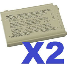 2x OEM Authentic Sanyo Original SCP-22LBPS Battery SCP-7050 SCP-8400