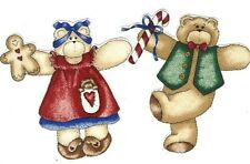 Christmas Bears   - Iron On Fabric Appliques