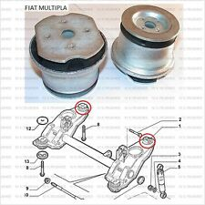 FIAT MULTIPLA ALL MODELS REAR SUBFRAME REAR BUSHES