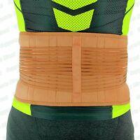 Beige Back Support Lower Lumbar Waist Adjustable Belt Brace Pain Relief Work