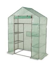 4 TIER WALK-IN GREENHOUSE WITH METAL FRAME & 6 SHELVES new