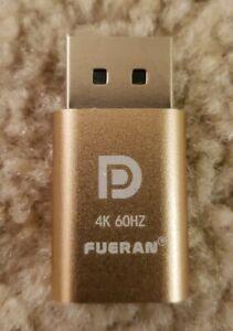 Virtual Display Adapter DP DisplayPort Dummy Plug 4K Headless Ghost Connector
