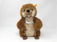 Steiff Biber BOBBY, braun ca. 24 cm Nr. 071652 KSF, neuwertig und unbespielt