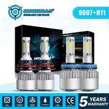 9007 LED Headlight HI/LO+H11 Fog Light Bulbs 6000K for Nissan Frontier 2005-2018