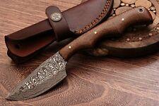 "Beautiful Handmade Damascus Steel Hunting Skinner Knife""Rose Wood Handle""(PB23)"