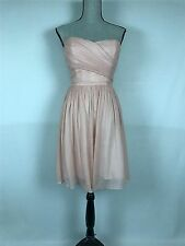NWT JCrew Silk Chiffon Arabelle Dress $225 Misty Rose 10 #29286 bridesmaid party