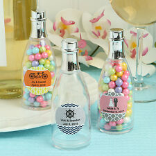 50 Personalized Plastic Champagne Candy Jars Birthday Baby Party Wedding Favors