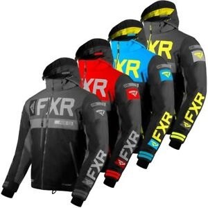 FXR Men's Helium X Winter Snow Snowmobiling Jacket - Black, Red, Blue, or Hi-Vis