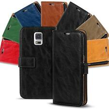 Samsung Galaxy S5 Mini Shockproof Wallet Book Case Cover PU Leather Flip Holder