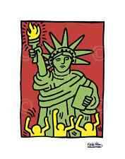 Statue of Liberty, 1986 by Keith Haring Art Print New York City Pop Poster 11x14
