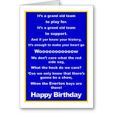 Unique Typographic EVERTON Football FAN Birthday Card/ Gift